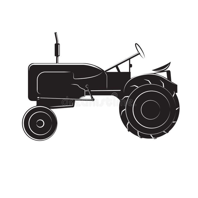 Traktor-Vektorillustration der Weinlese amerikanische Retro- landwirtschaftliche Maschine Alte landwirtschaftliche Maschinen vektor abbildung
