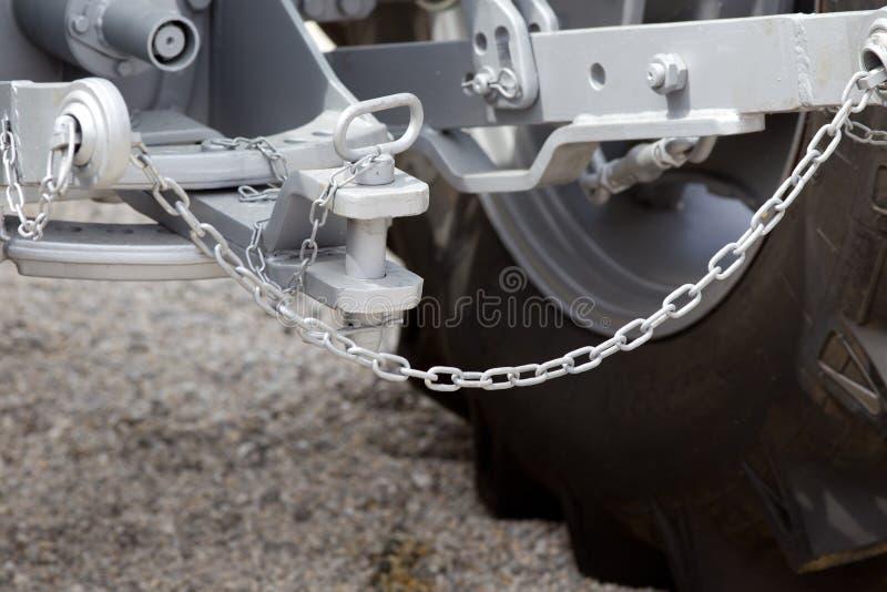 Traktorhake- och släpstång royaltyfria foton
