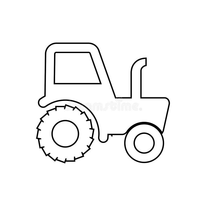 Traktorikone Element des Transportes f?r bewegliches Konzept und Netz Appsikone Entwurf, d?nne Linie Ikone f?r Websiteentwurf und vektor abbildung