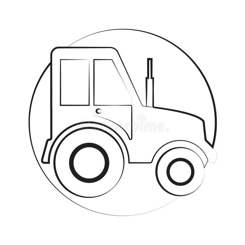 Traktorikone ilustration stockbilder