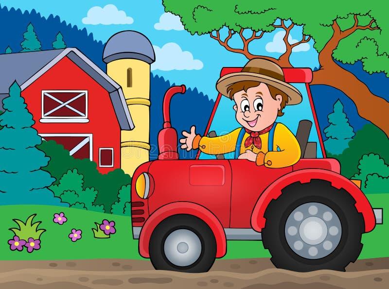 Traktortemabild 6 vektor illustrationer
