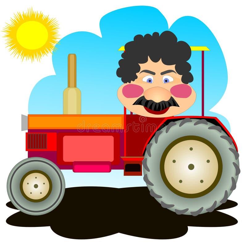 Traktortreiber stock abbildung