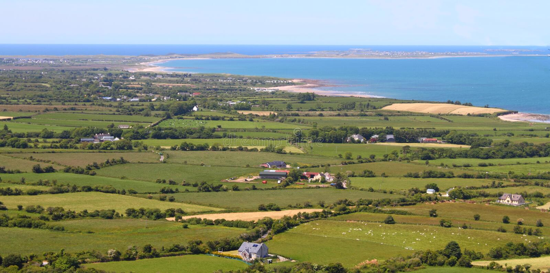 Tralee Bay County Kerry Ireland arkivbild