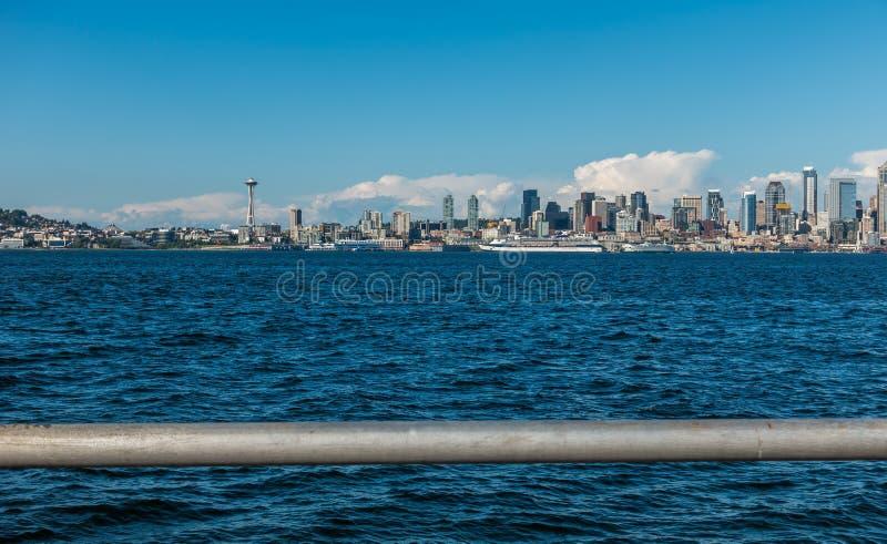 Traliewerk en de Horizon van Seattle royalty-vrije stock afbeelding