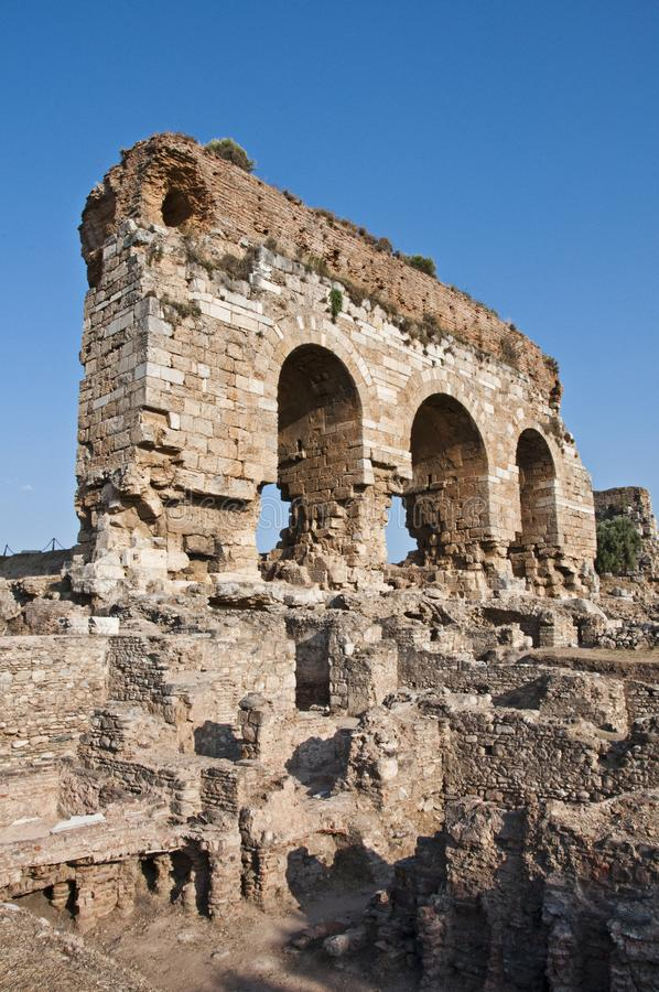 Tralleis Ancient City from Aydin City in Aegean coast of Turkey stock photography