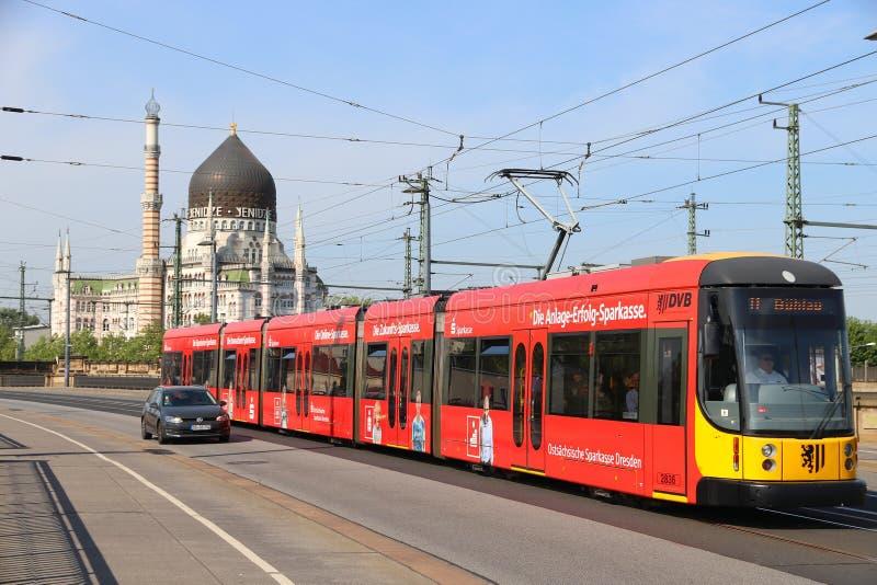 Tram électrique de l'Allemagne photo libre de droits