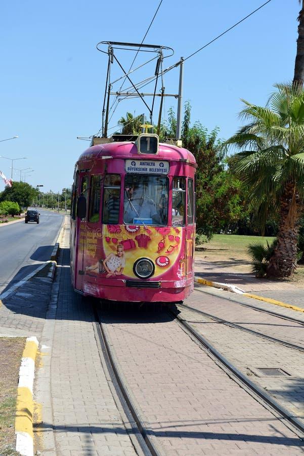 Tram никакое 1 в Анталье, Турции стоковое фото rf