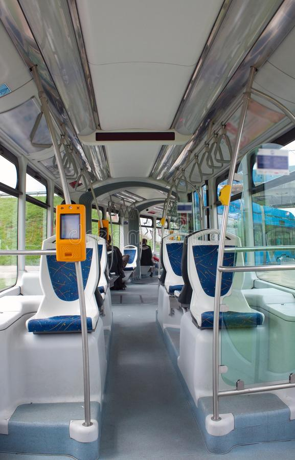 In the tram royalty free stock photography