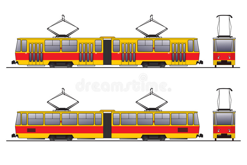 Download Tram stock illustration. Image of mode, portland, overhead - 2197366