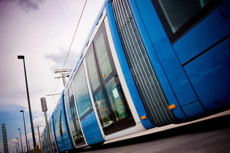 Download Tram stock image. Image of urban, electric, white, train - 9209251