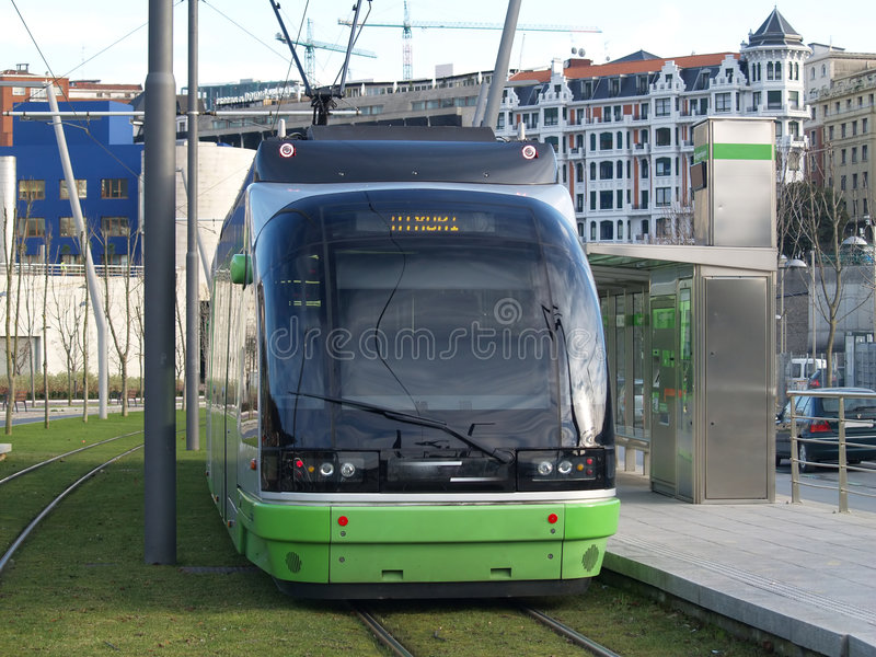 Download Tram in Bilbao stock image. Image of spain, travel, basque - 1002467