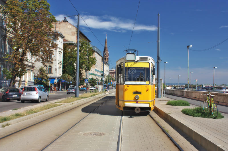 Download Tram in Budapest Hungary stock photo. Image of public - 26028446