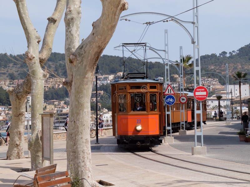 Tram chez Port de Soller, Majorque, Espagne photos libres de droits