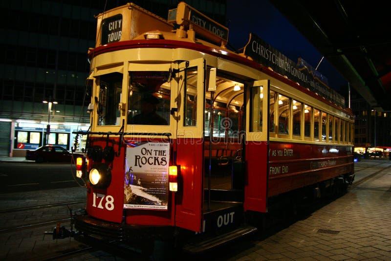 Tram in Christchurch, Nieuw Zeeland royalty-vrije stock foto's