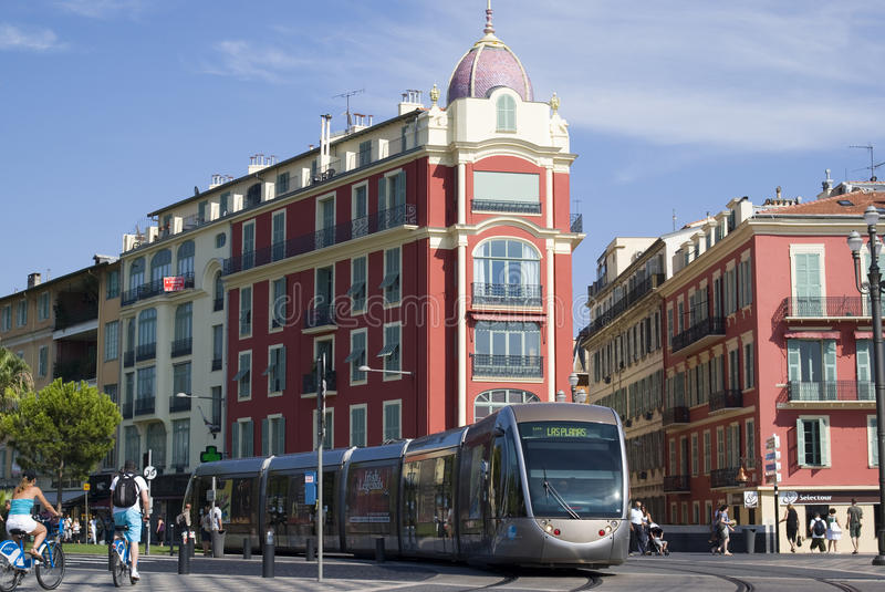 Download Tram in city of Nice editorial stock photo. Image of historical - 15680323