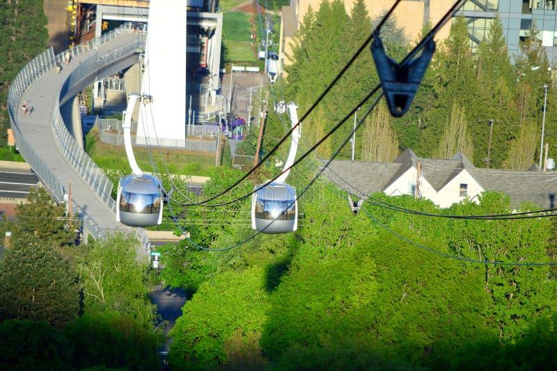 Tram d'antenne de Portland photo libre de droits