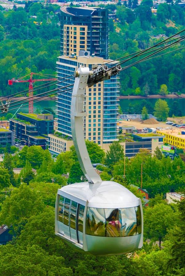 Tram d'antenne de Portland photos libres de droits
