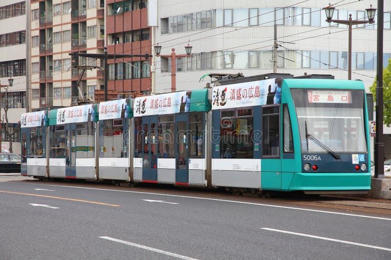 Tram d'Hiroshima photo stock