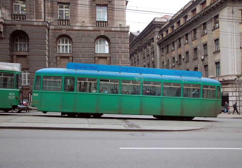 Tram de Belgrade image stock