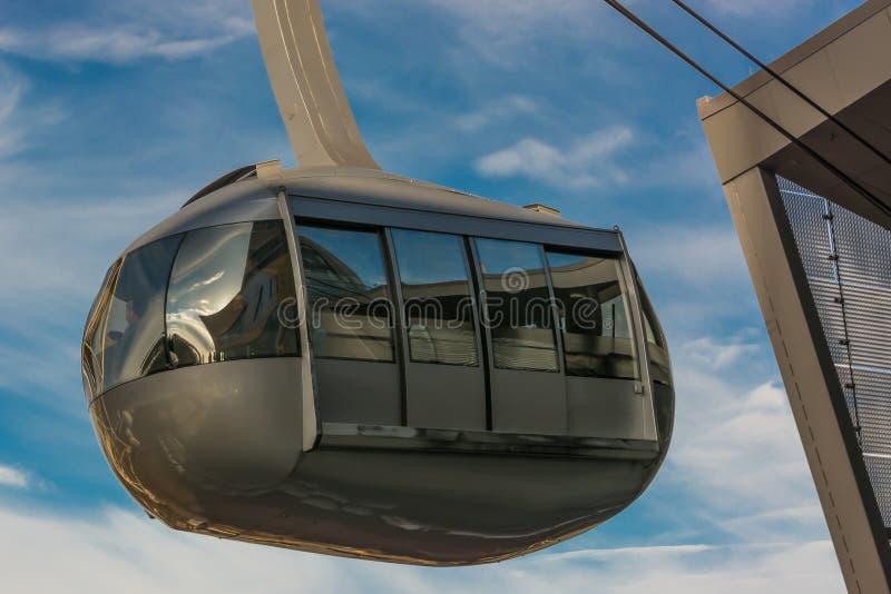 Tram de ciel de Portland image stock