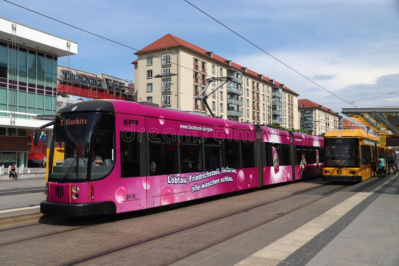 Tram de Dresde images stock
