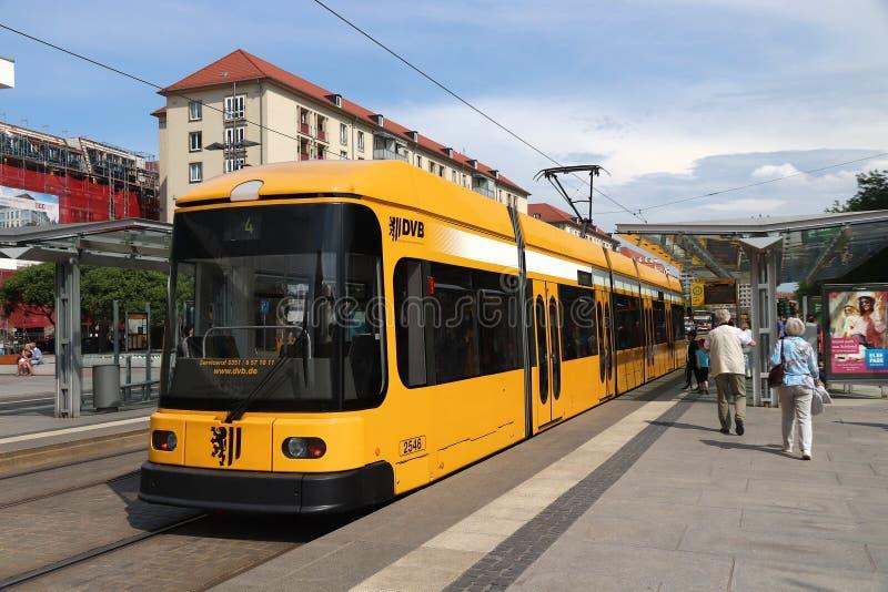 Tram de Dresde photo stock