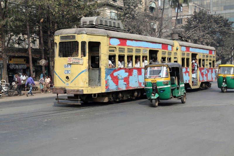 Tram de Kolkata images libres de droits