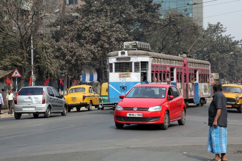Tram de Kolkata image stock