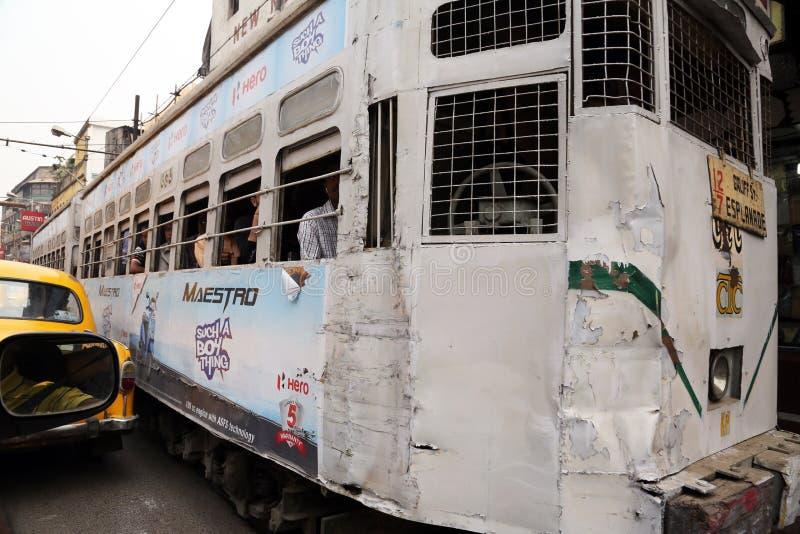Tram de Kolkata photo stock