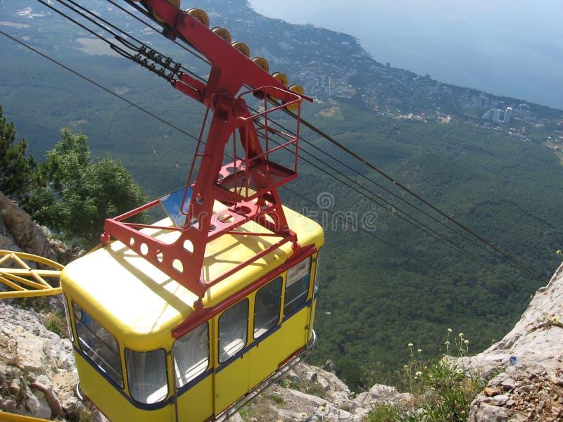 Tram in de Krim, ai-Petri stock fotografie