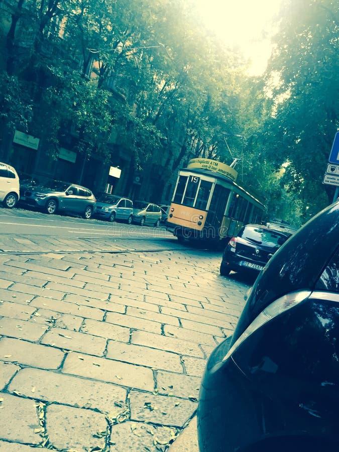 Tram de Milan photographie stock