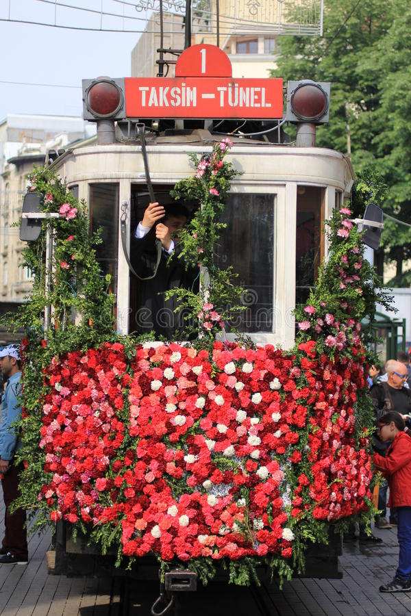 Tram de Taksim-Tunel, Istiklal photographie stock