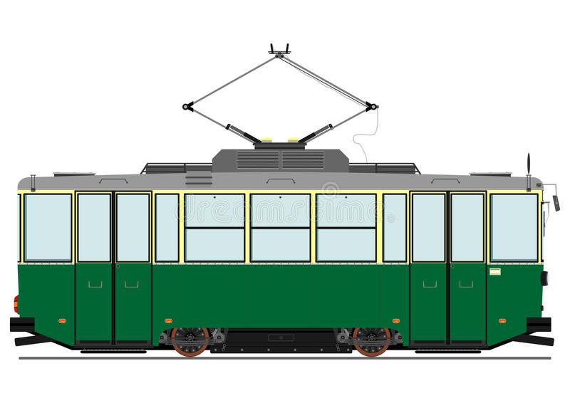 Tram de vintage illustration de vecteur