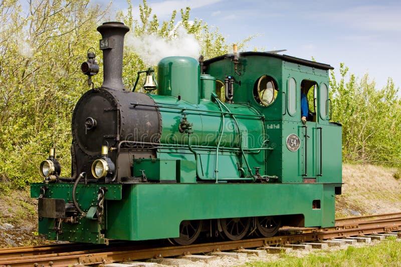 tram del vapore, porto di Middelplaat, RTM, Ouddorp, Paesi Bassi fotografia stock libera da diritti
