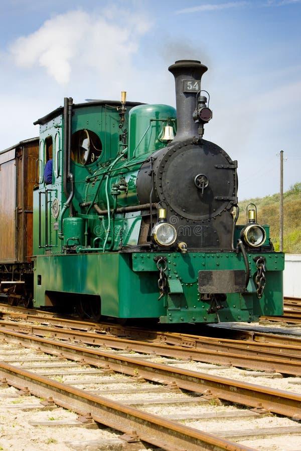 tram del vapore, RTM, Ouddorp, Paesi Bassi immagine stock