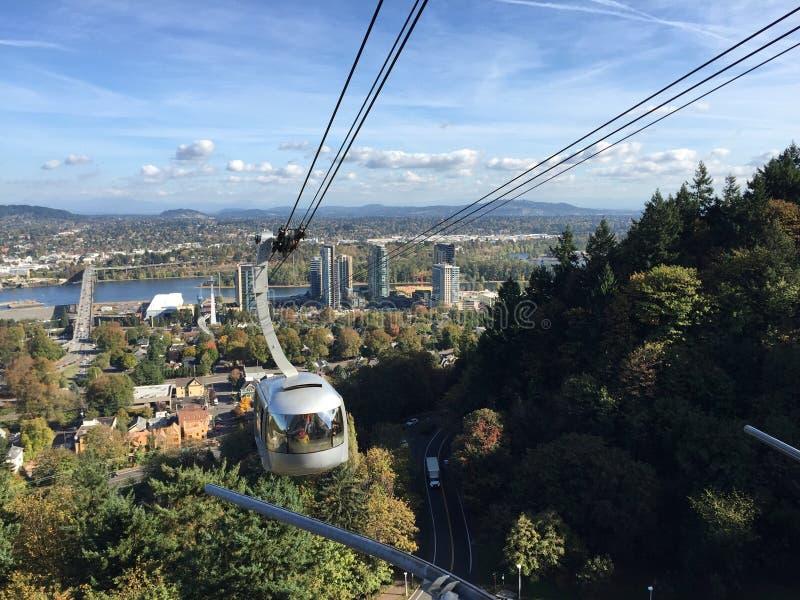 Tram dell'antenna di Portland immagine stock libera da diritti