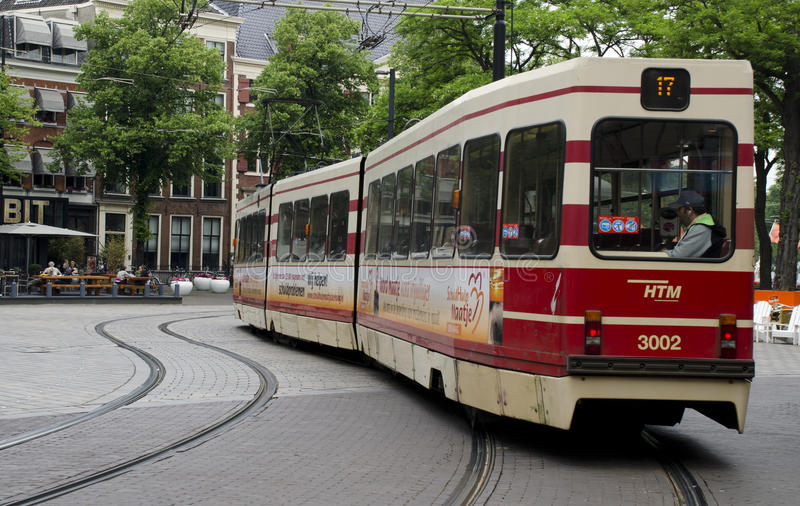Tram den Haag Netherlands stock photography