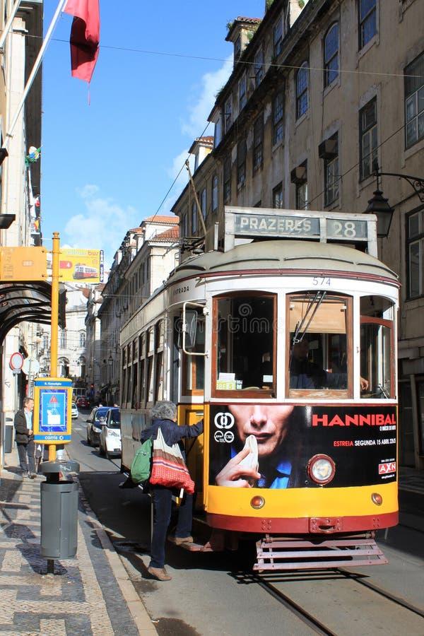 Tram di Lisbona fotografia stock libera da diritti