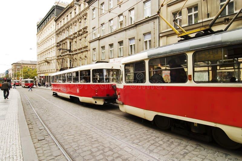 Tram di Praga fotografia stock libera da diritti