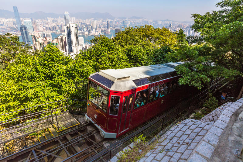 Tram di punta Hong Kong immagine stock