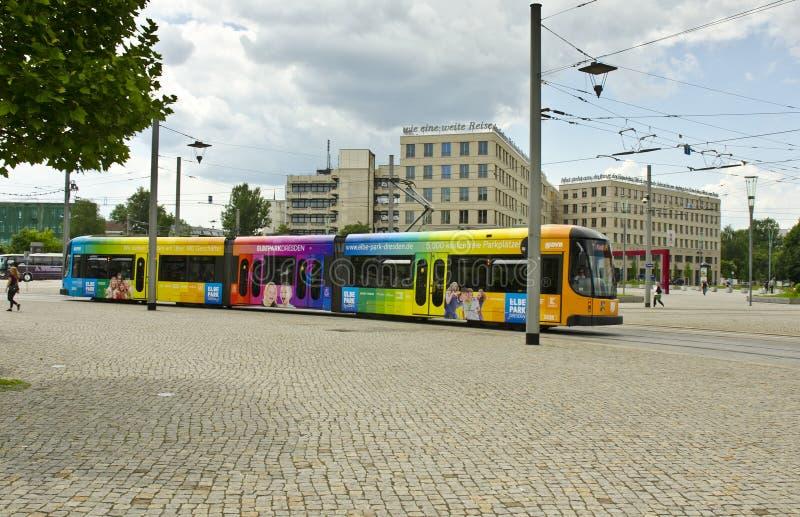 Tram, Dresde, Allemagne photographie stock libre de droits