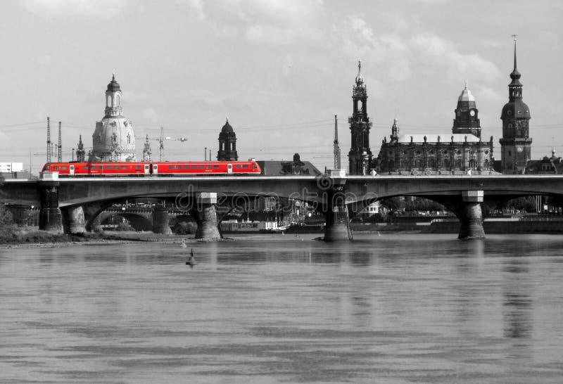 Tram in Dresden royalty-vrije stock afbeelding