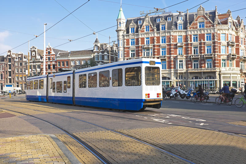 Download Tram Driving In Amsterdam Netherlands Stock Photo - Image: 36243154