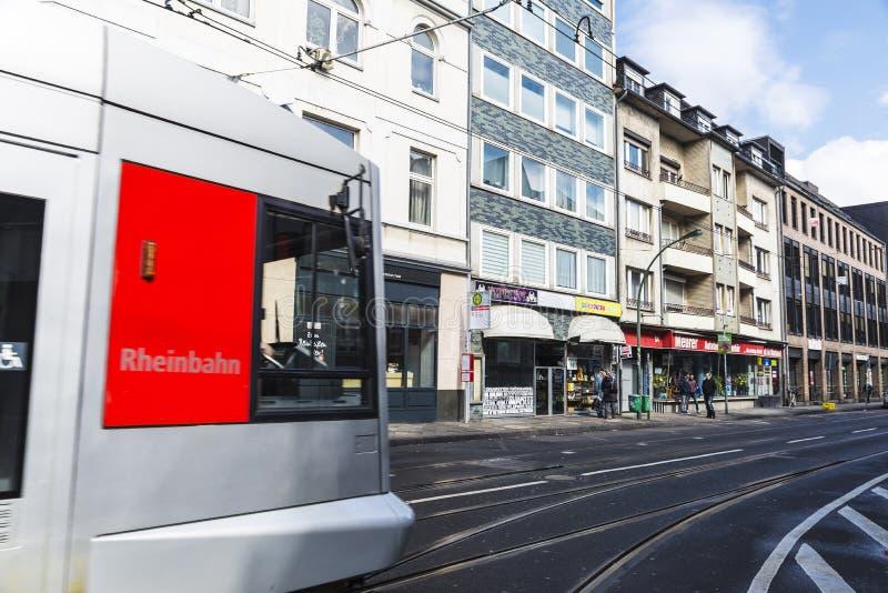 Tram in Dusseldorf, Germany stock photography