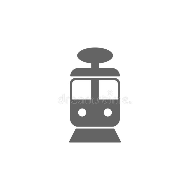 tram icon. Element of simple transport icon. Premium quality graphic design icon. Signs and symbols collection icon for websites royalty free illustration