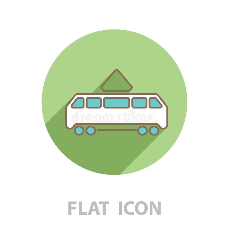 Tram icon. vector illustration. Sign royalty free illustration