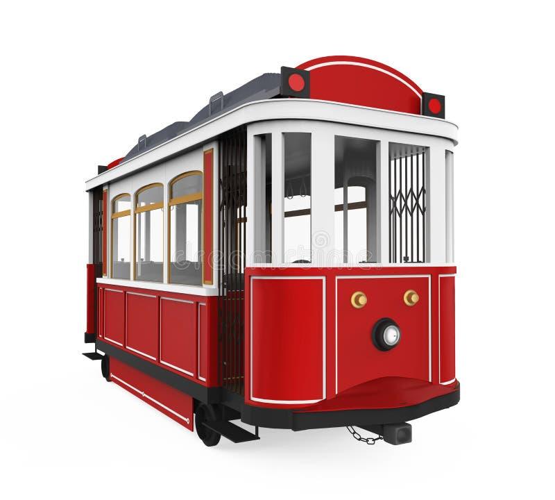 Tram isolato illustrazione di stock
