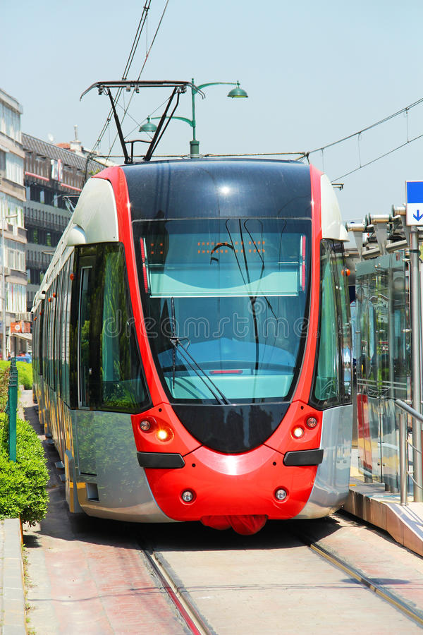 Download Tram in Istanbul stock image. Image of sunny, tram, transport - 25062543