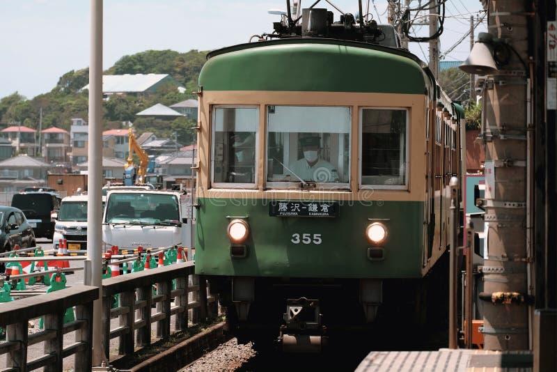 Tram a Kamakura immagine stock