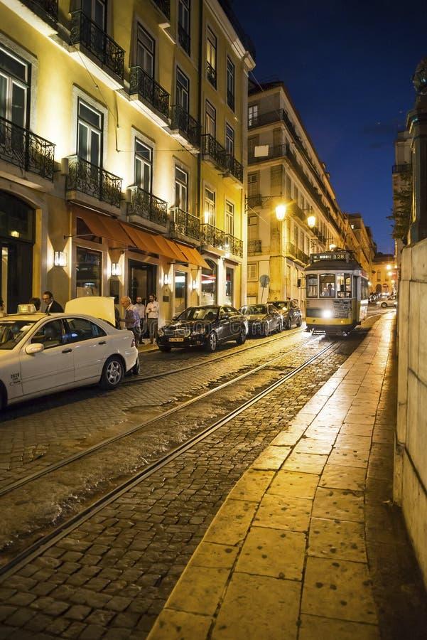 Tram keine 28, Lissabon, Portugal lizenzfreies stockbild